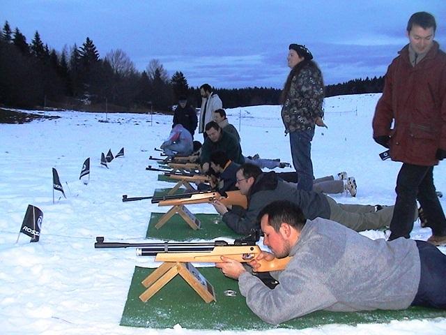 tir à la carabine biathlon