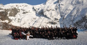 photo de groupe challenge des neiges
